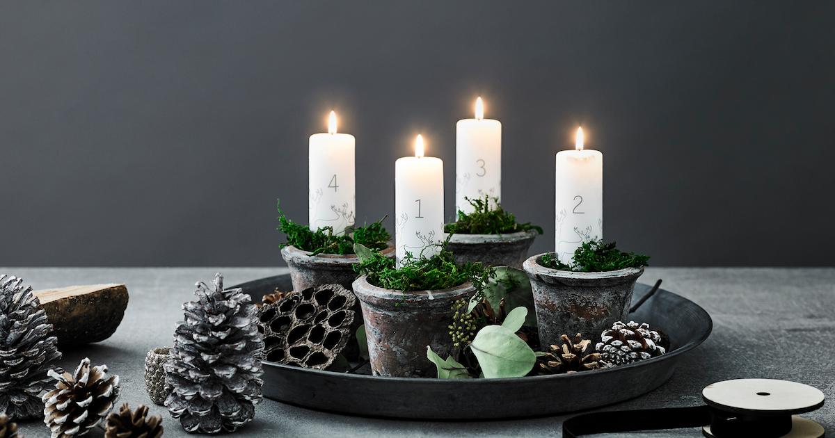 3 fine adventskranse netto. Black Bedroom Furniture Sets. Home Design Ideas
